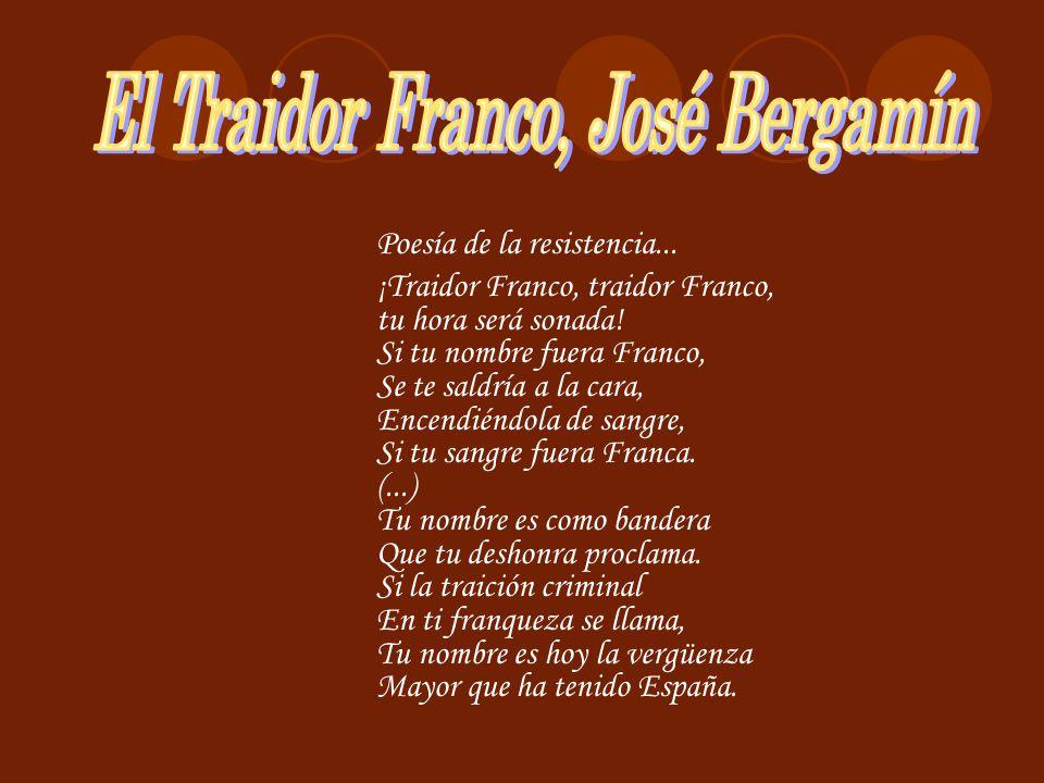 El Traidor Franco, José Bergamín