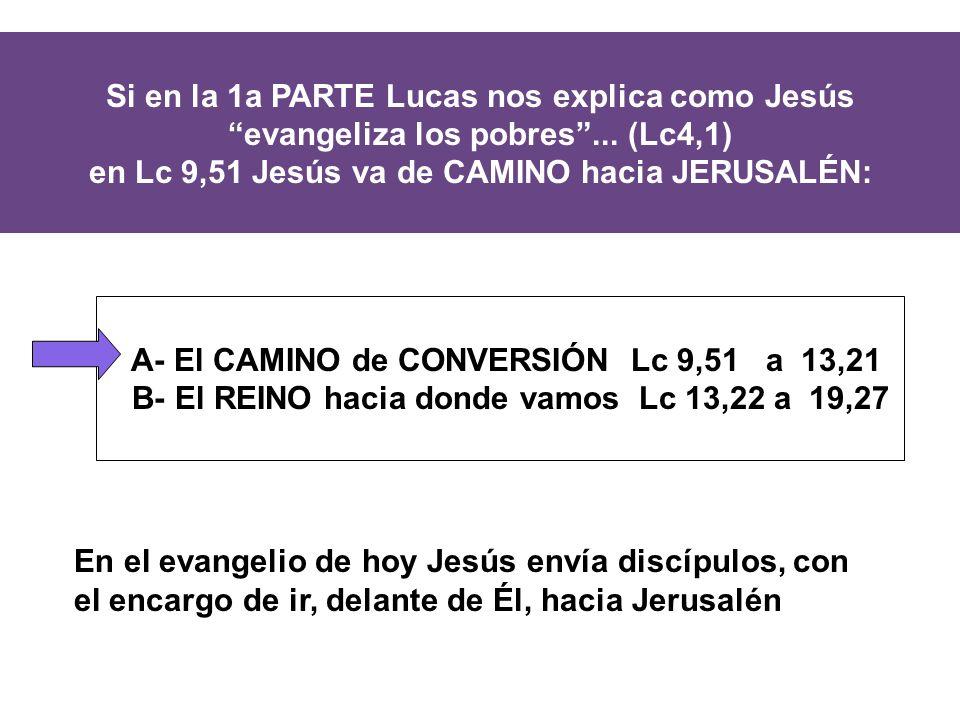 Si en la 1a PARTE Lucas nos explica como Jesús evangeliza los pobres