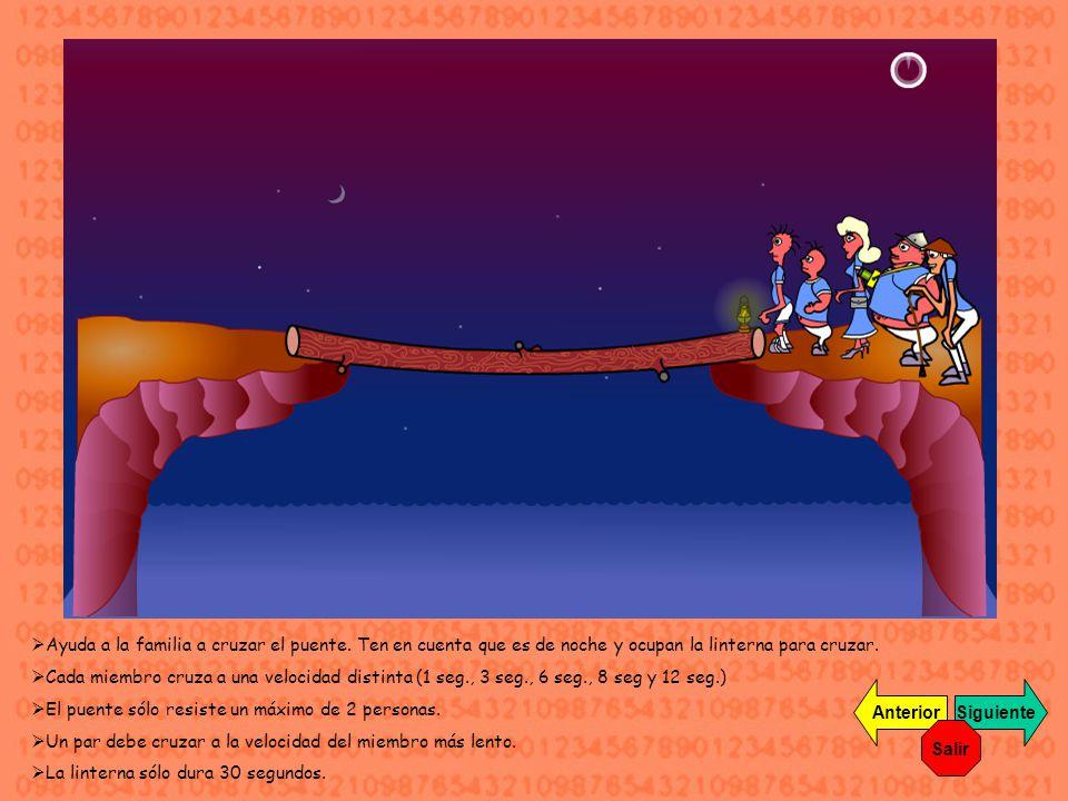 Ayuda a la familia a cruzar el puente