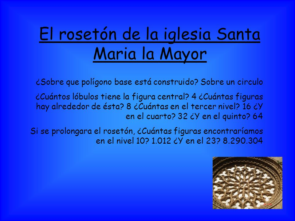 El rosetón de la iglesia Santa Maria la Mayor