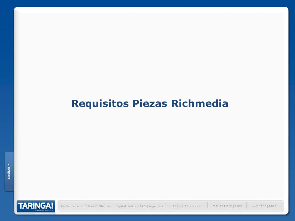 Requisitos Piezas Richmedia
