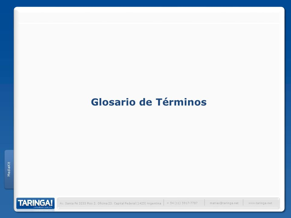Glosario de Términos │ MediaKit