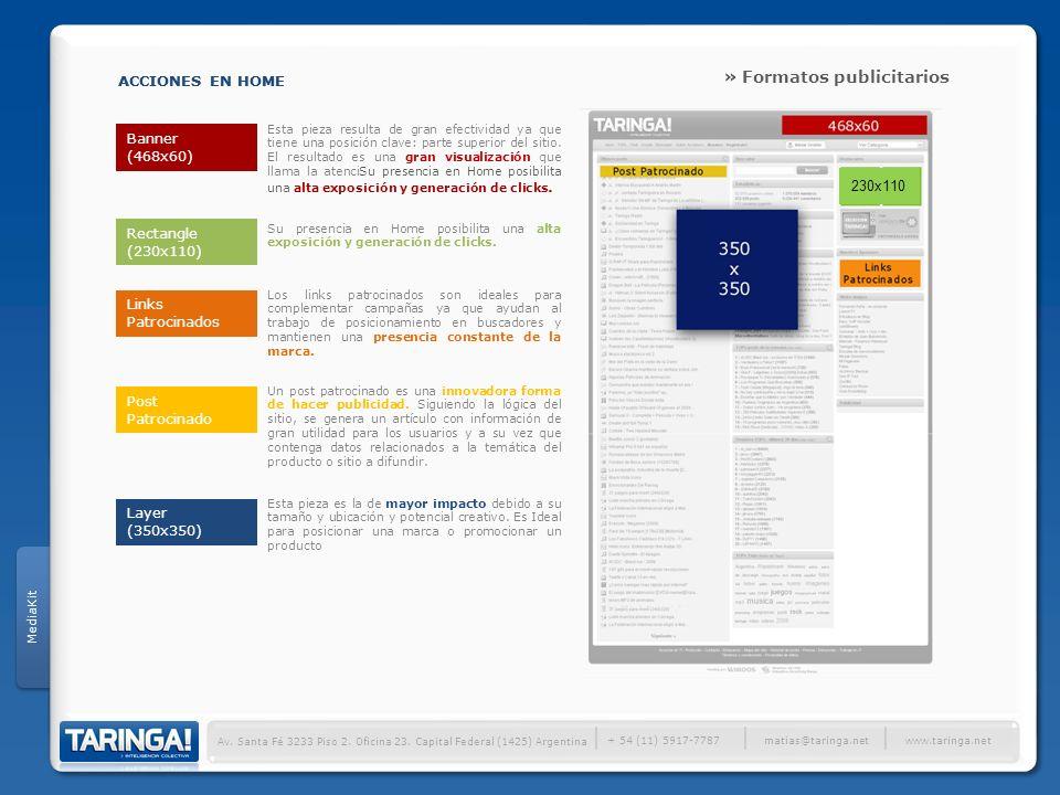 │ » Formatos publicitarios ACCIONES EN HOME ACCIONES EN HOME 230x110