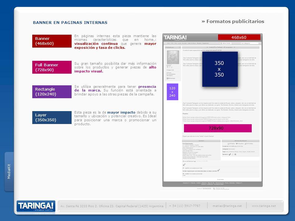 │ » Formatos publicitarios BANNER EN PAGINAS INTERNAS Banner (468x60)