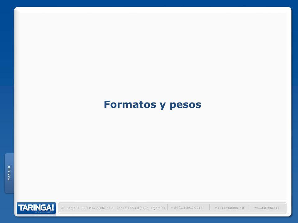 Formatos y pesos │ MediaKit