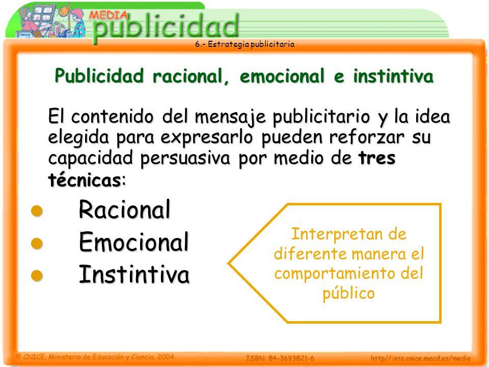Publicidad racional, emocional e instintiva