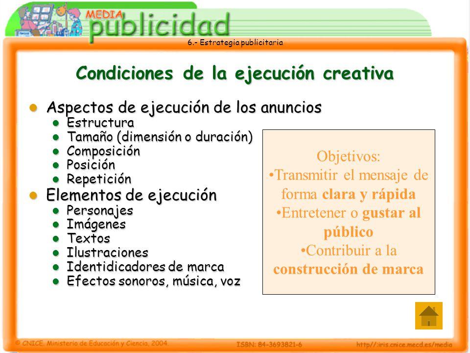 Condiciones de la ejecución creativa