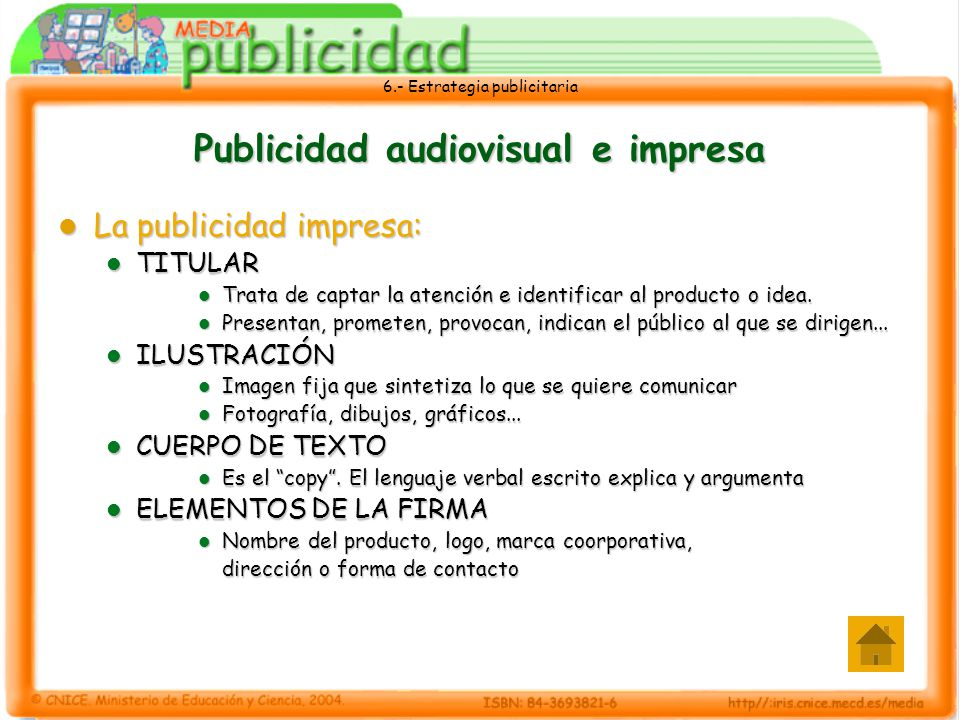 Publicidad audiovisual e impresa