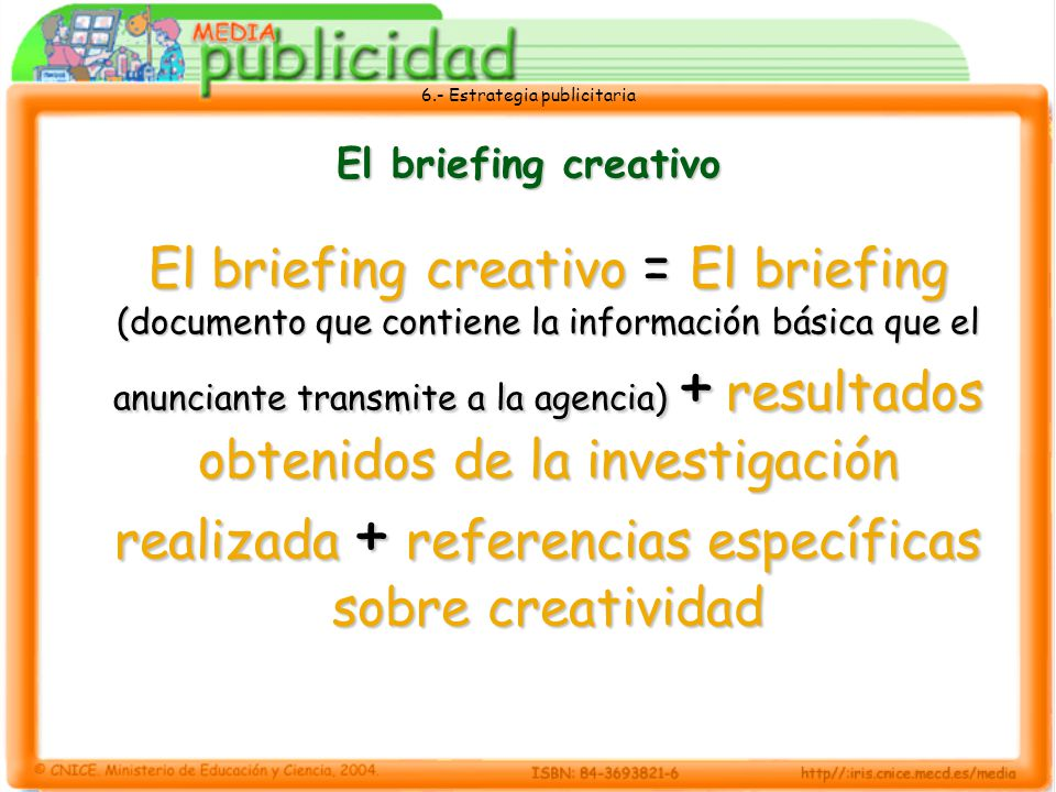El briefing creativo