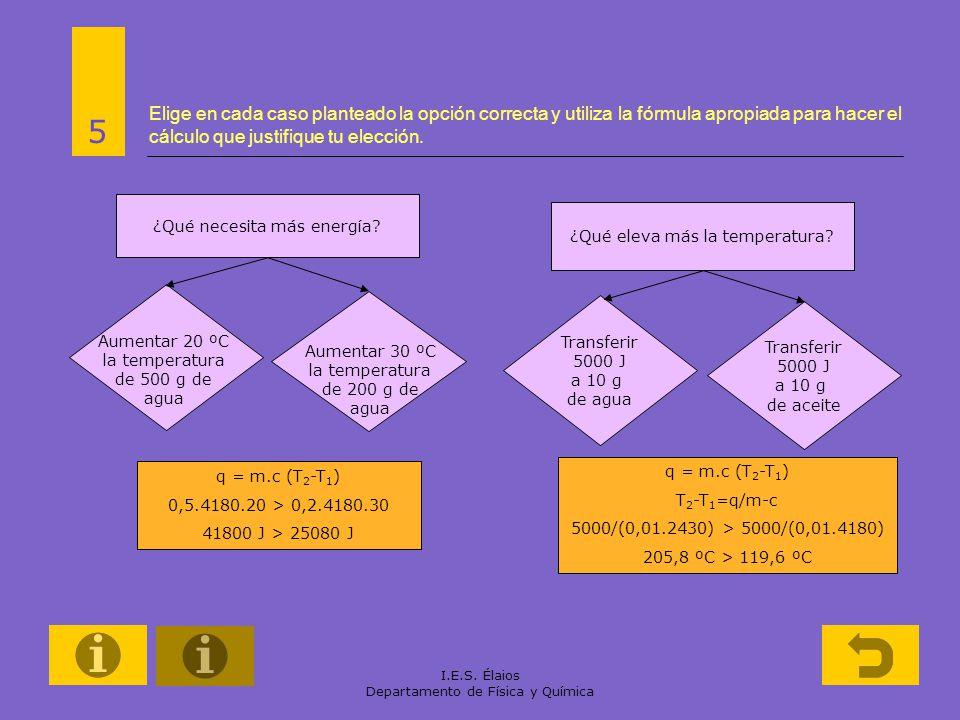Elige en cada caso planteado la opción correcta y utiliza la fórmula apropiada para hacer el cálculo que justifique tu elección.