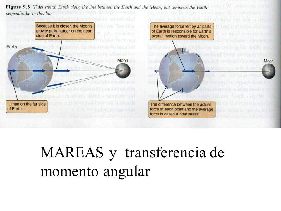 MAREAS y transferencia de momento angular