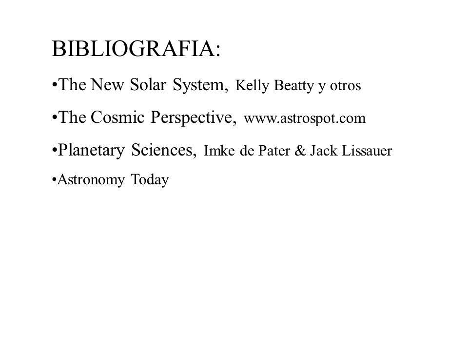 BIBLIOGRAFIA: The New Solar System, Kelly Beatty y otros