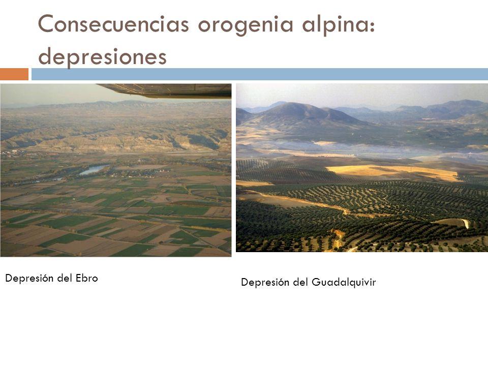 Consecuencias orogenia alpina: depresiones