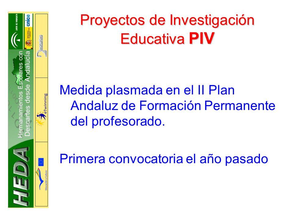 Proyectos de Investigación Educativa PIV