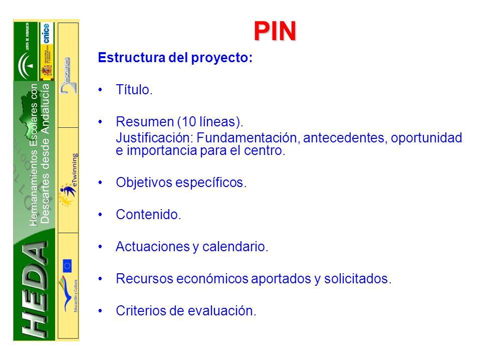 PIN Estructura del proyecto: Título. Resumen (10 líneas).
