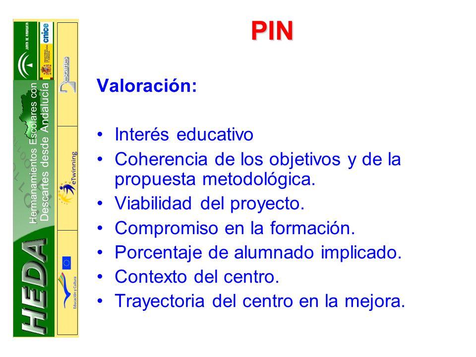 PIN Valoración: Interés educativo