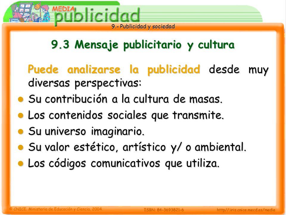 9.3 Mensaje publicitario y cultura