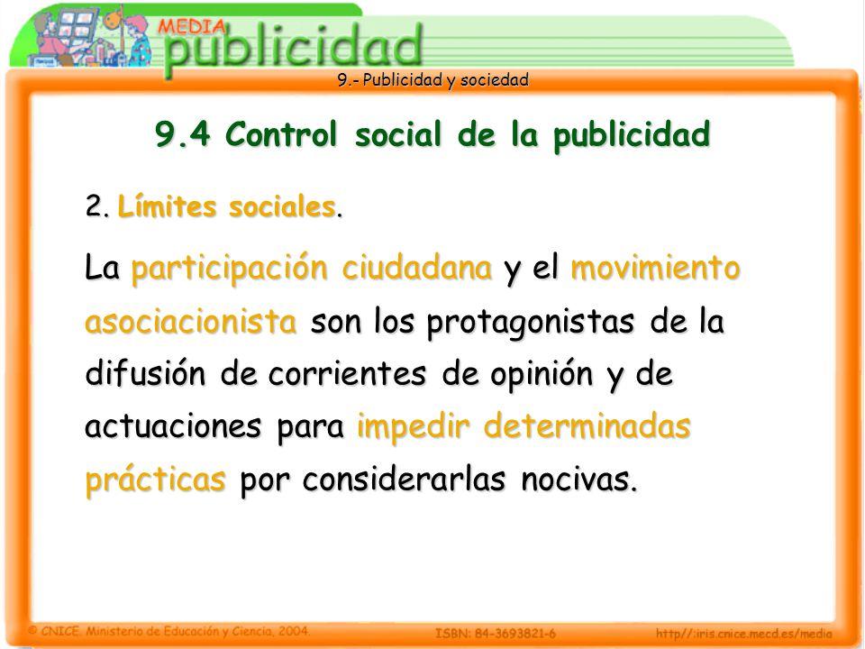 9.4 Control social de la publicidad