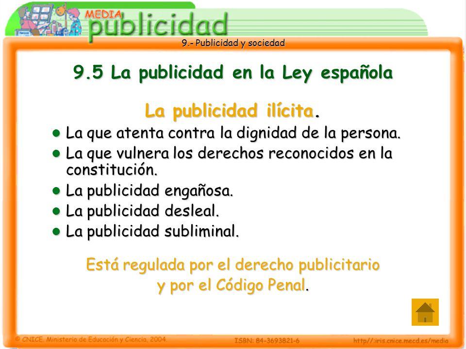 9.5 La publicidad en la Ley española
