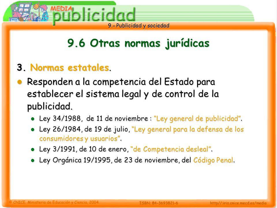 9.6 Otras normas jurídicas