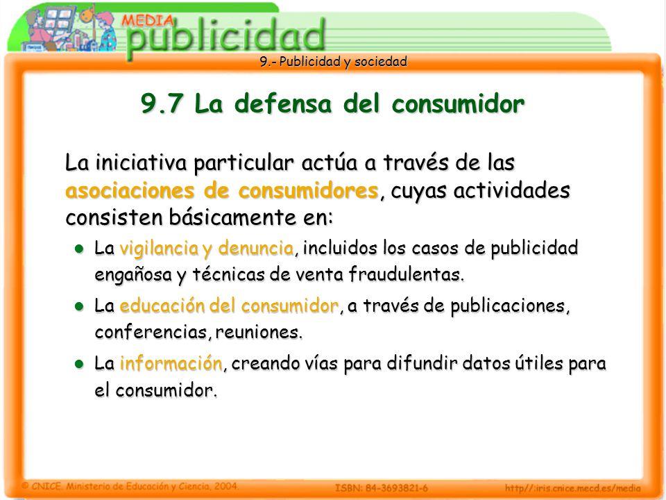 9.7 La defensa del consumidor