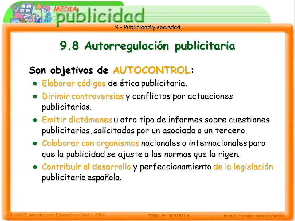 9.8 Autorregulación publicitaria