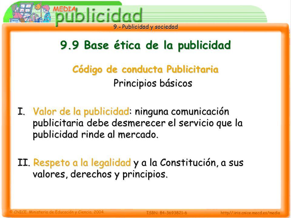 9.9 Base ética de la publicidad