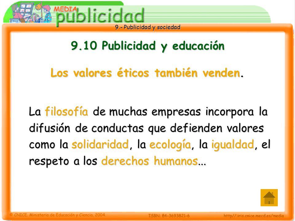9.10 Publicidad y educación