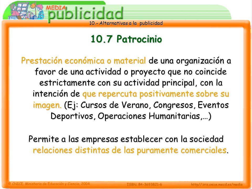10.7 Patrocinio