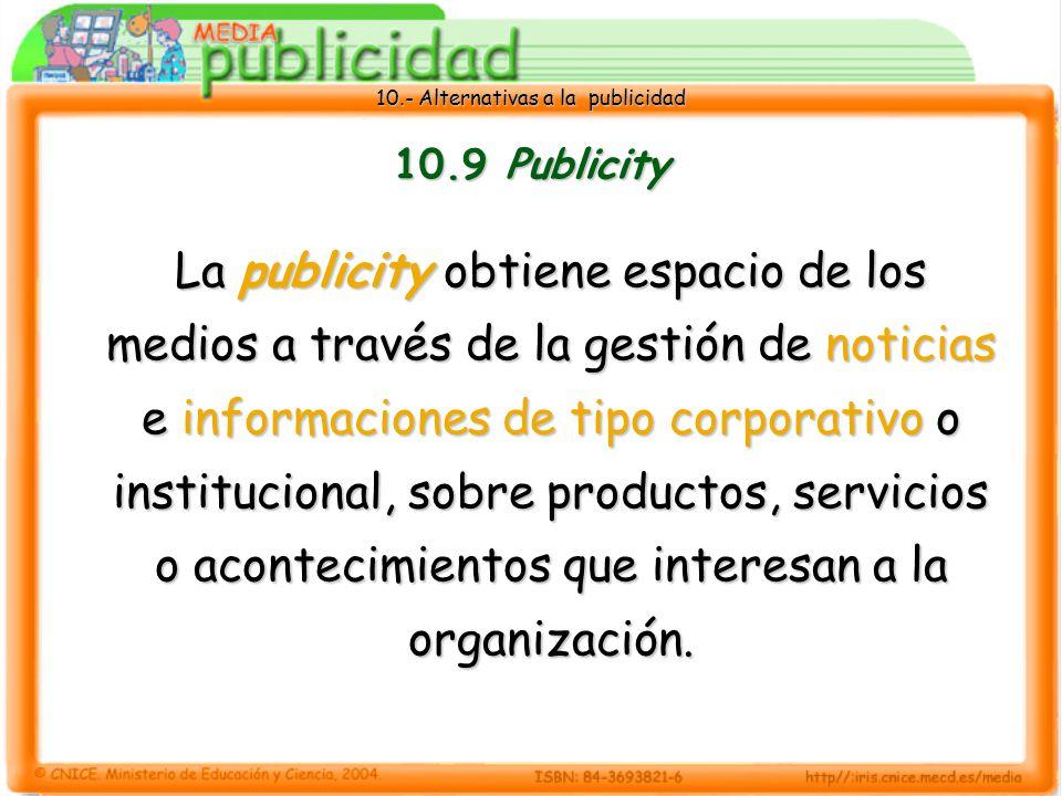10.9 Publicity
