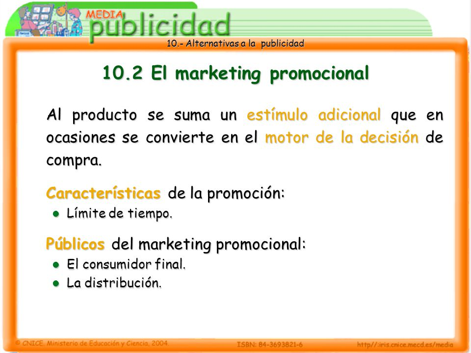 10.2 El marketing promocional