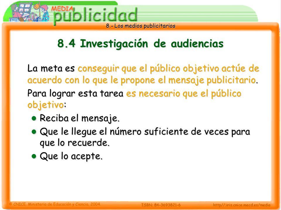 8.4 Investigación de audiencias