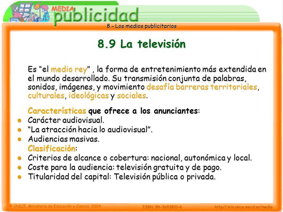 8.9 La televisión