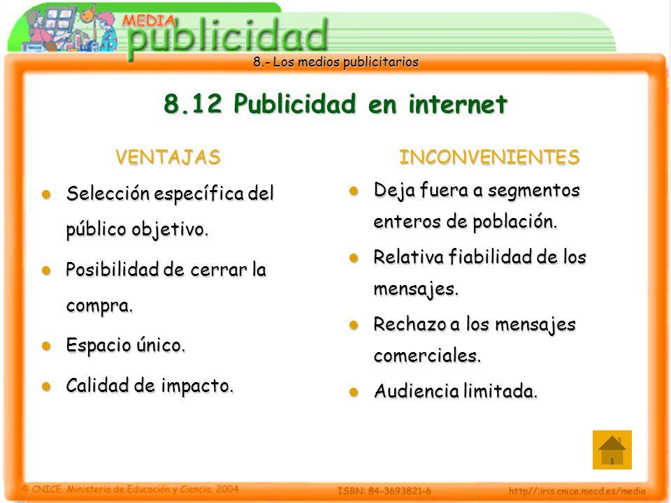 8.12 Publicidad en internet