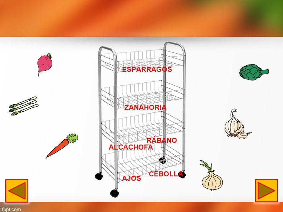 ESPÁRRAGOS ZANAHORIA RÁBANO ALCACHOFA CEBOLLA AJOS