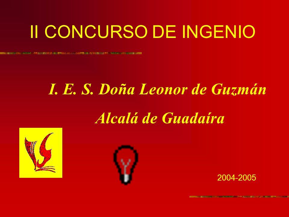 II CONCURSO DE INGENIO I. E. S. Doña Leonor de Guzmán