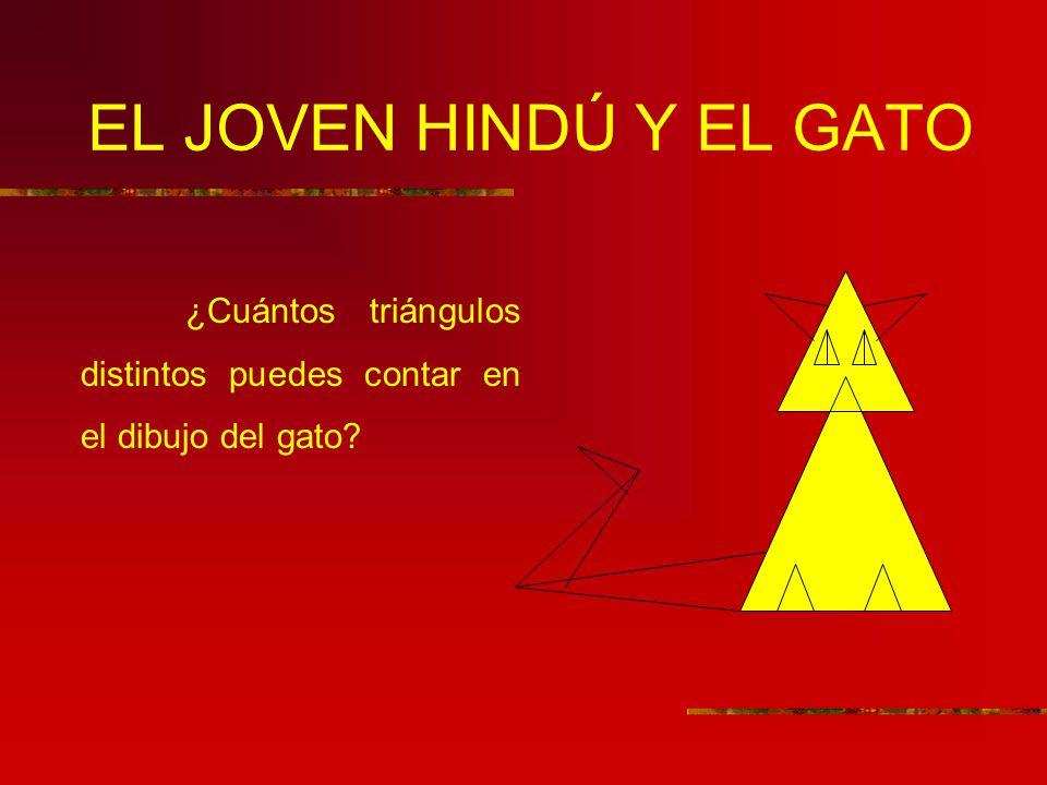 EL JOVEN HINDÚ Y EL GATO ¿Cuántos triángulos distintos puedes contar en el dibujo del gato