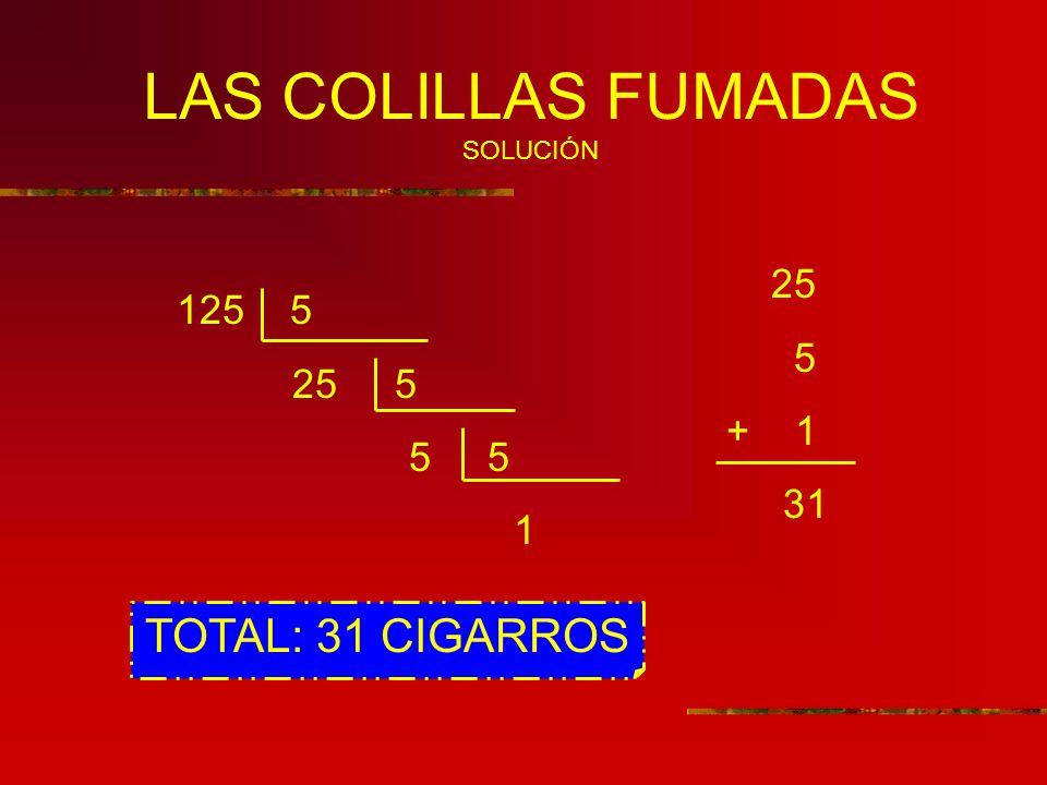 LAS COLILLAS FUMADAS SOLUCIÓN