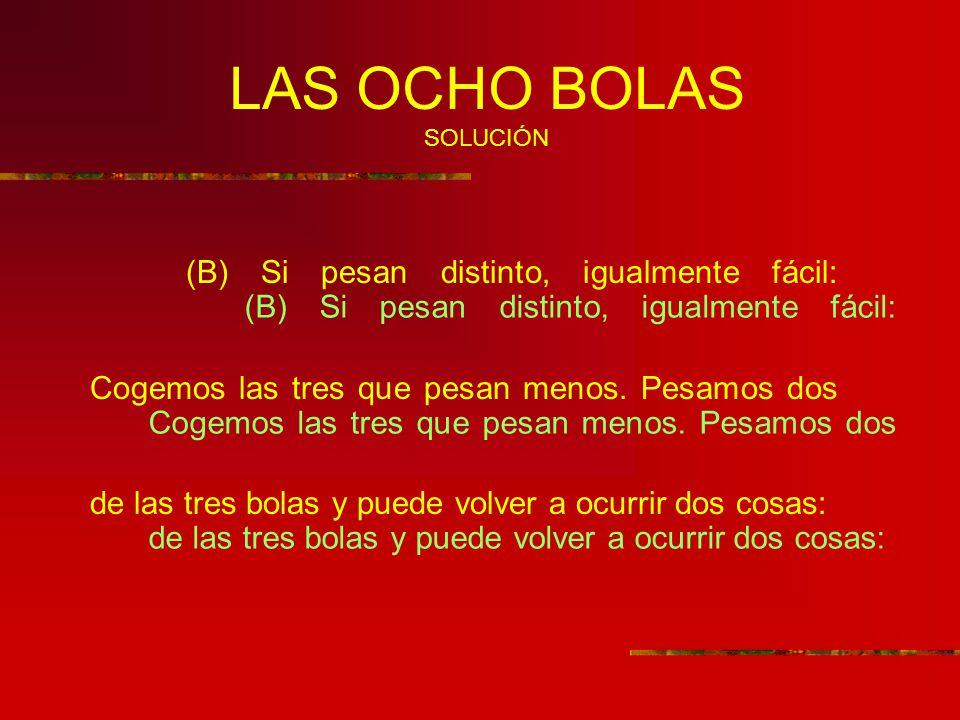LAS OCHO BOLAS SOLUCIÓN