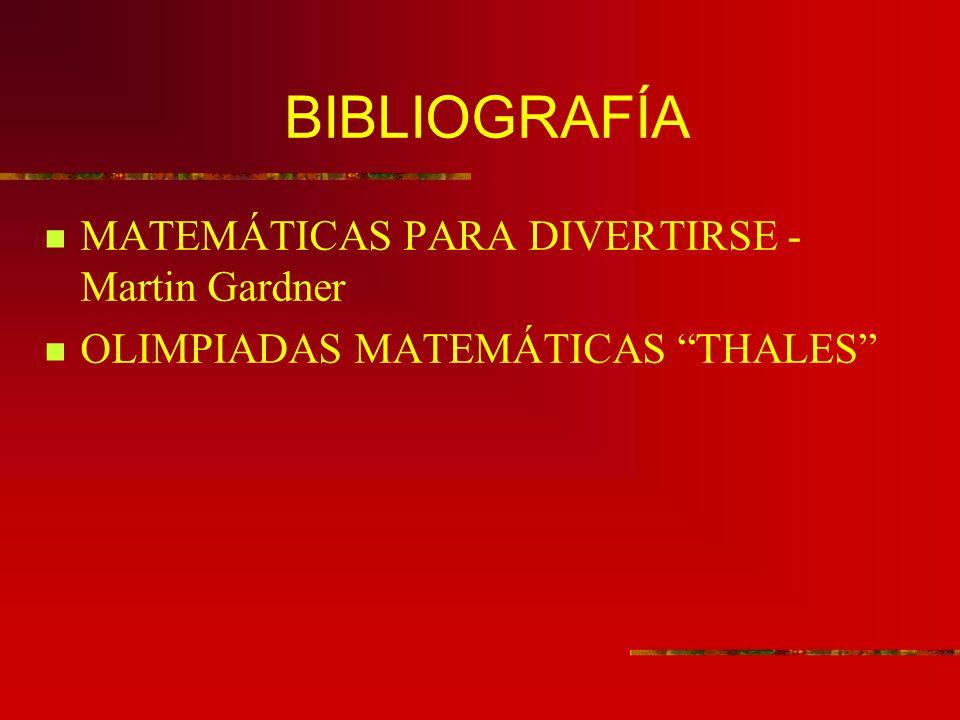 BIBLIOGRAFÍA MATEMÁTICAS PARA DIVERTIRSE -Martin Gardner