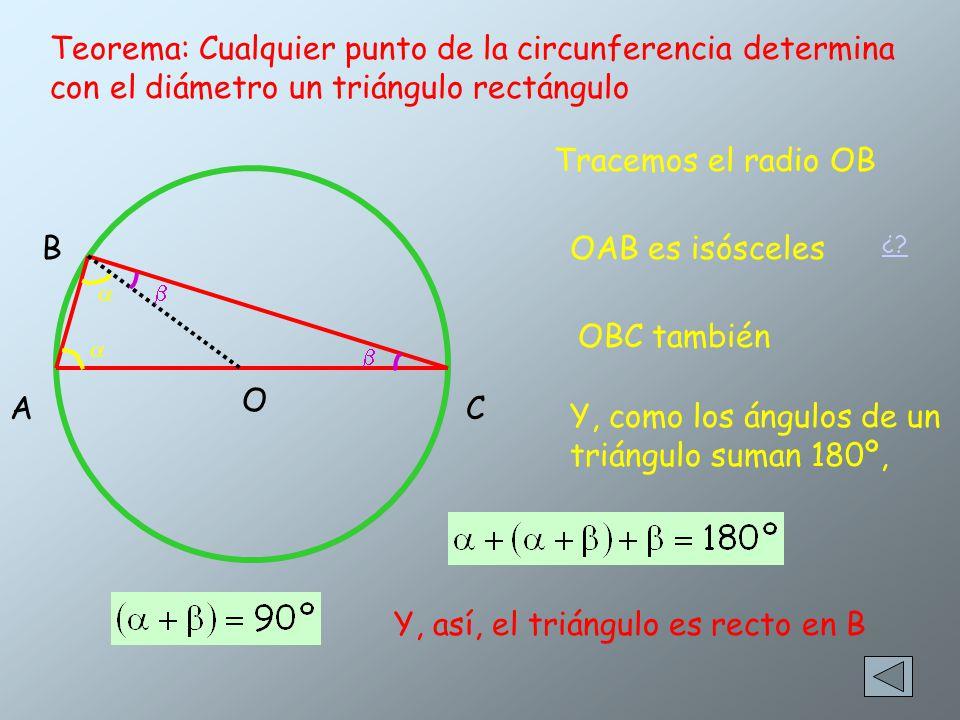 Y, como los ángulos de un triángulo suman 180º,