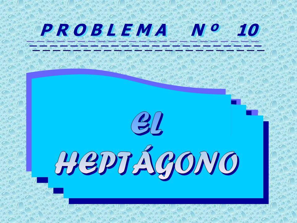 P R O B L E M A N º 10 EL HEPTÁGONO