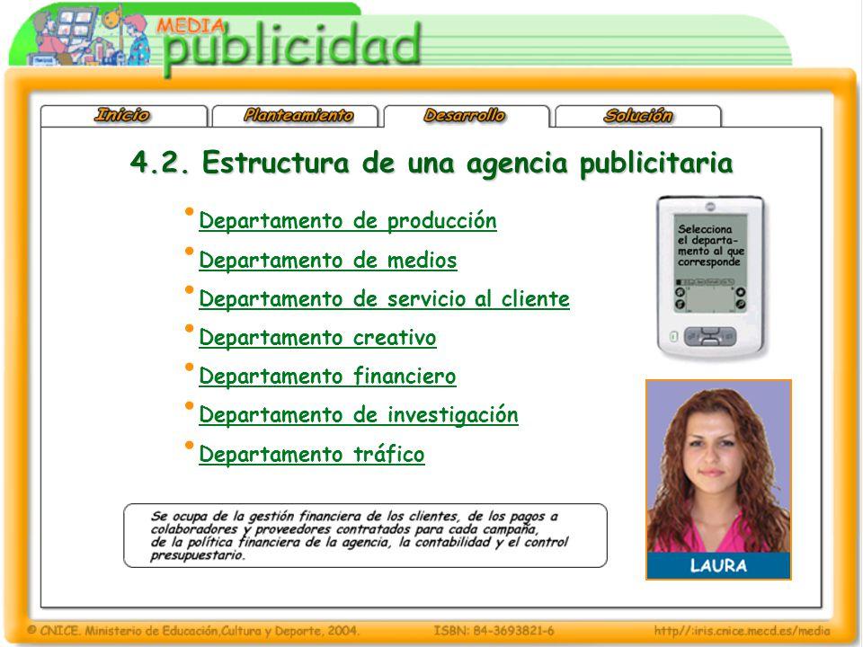 4.2. Estructura de una agencia publicitaria