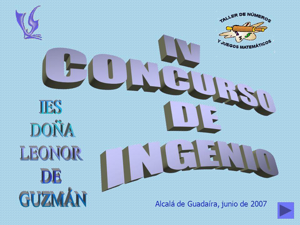 IV CONCURSO DE INGENIO IES DOÑA LEONOR DE GUZMÁN