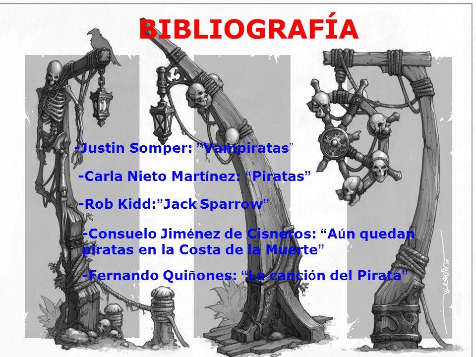 bibliografía BIBLIOGRAFÍA -Justin Somper: Vampiratas