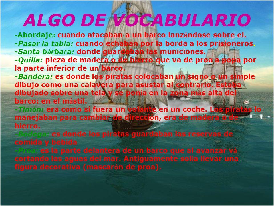 ALGO DE VOCABULARIO