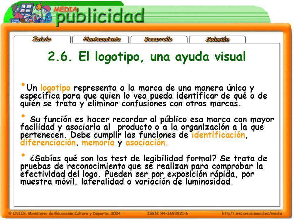 2.6. El logotipo, una ayuda visual