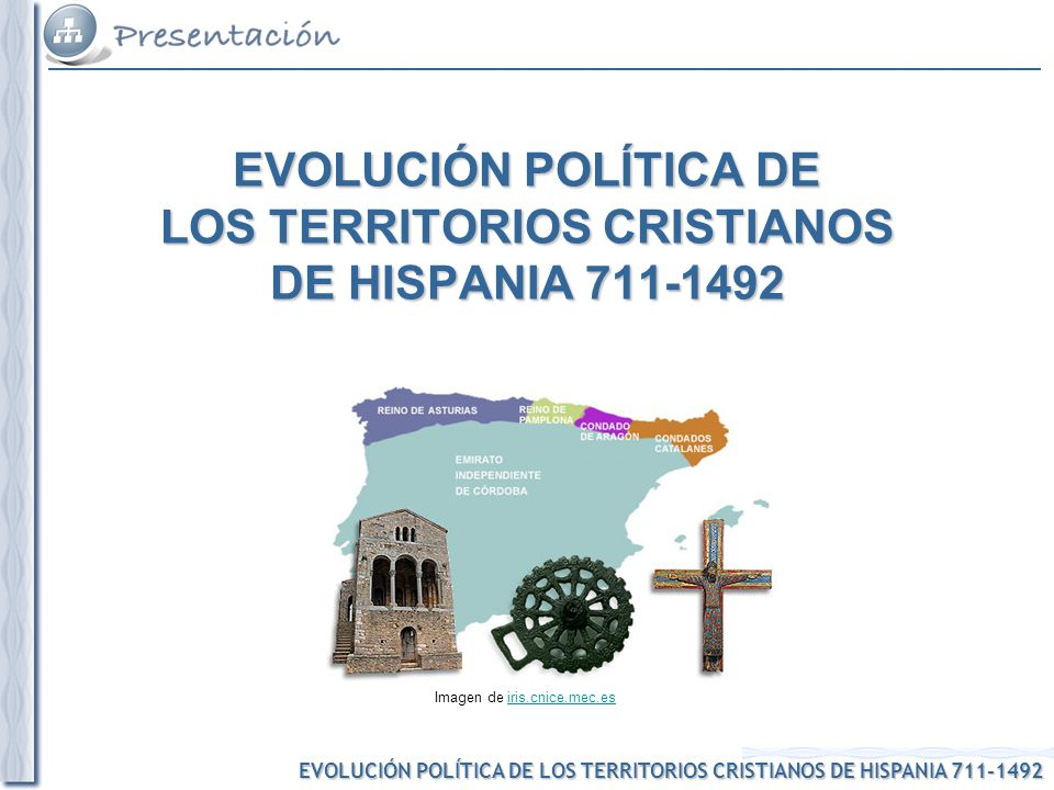 EVOLUCIÓN POLÍTICA DE LOS TERRITORIOS CRISTIANOS DE HISPANIA 711-1492