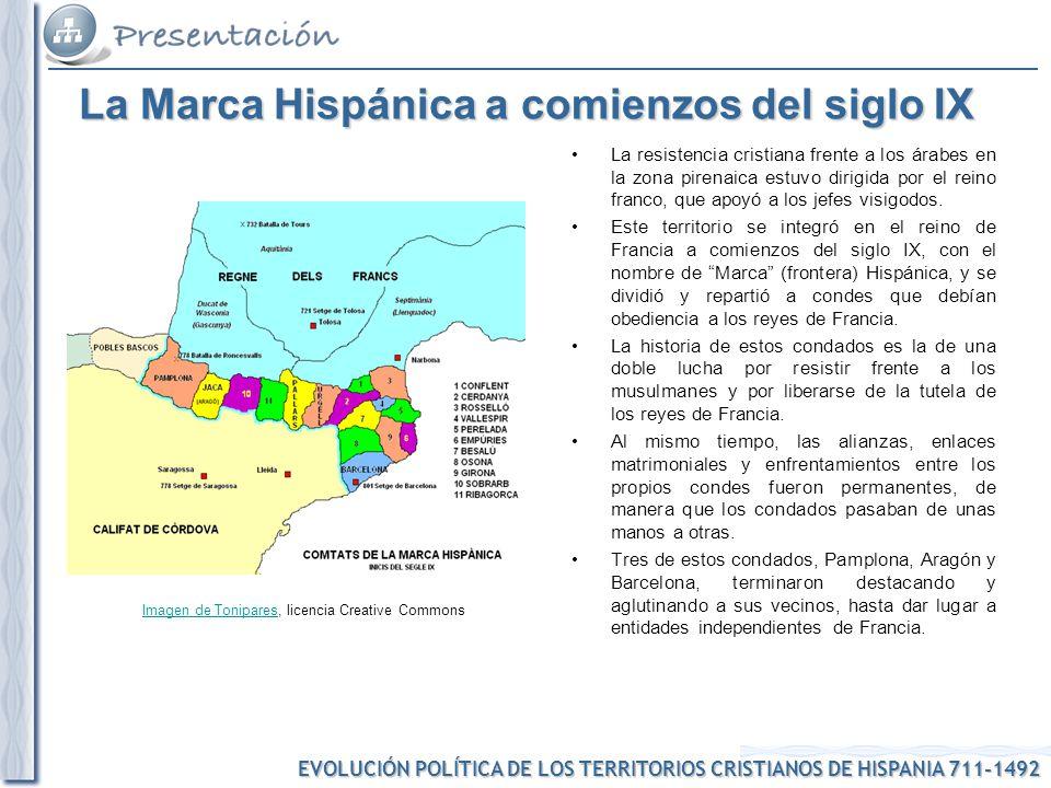 La Marca Hispánica a comienzos del siglo IX