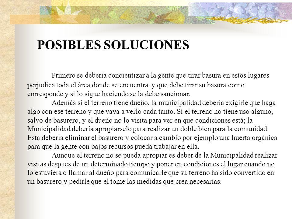 POSIBLES SOLUCIONES